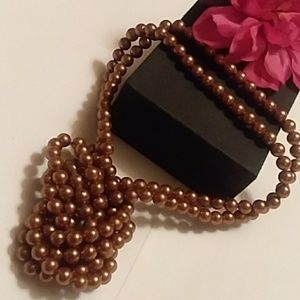 Jewelry - 💞Breakfast At Tiffany Style Bronze PEARL NECKLACE